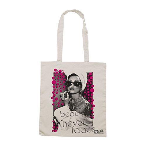 Borsa Audrey Hepburn Eleganza Bellezza - Panna - Famosi by Mush Dress Your Style