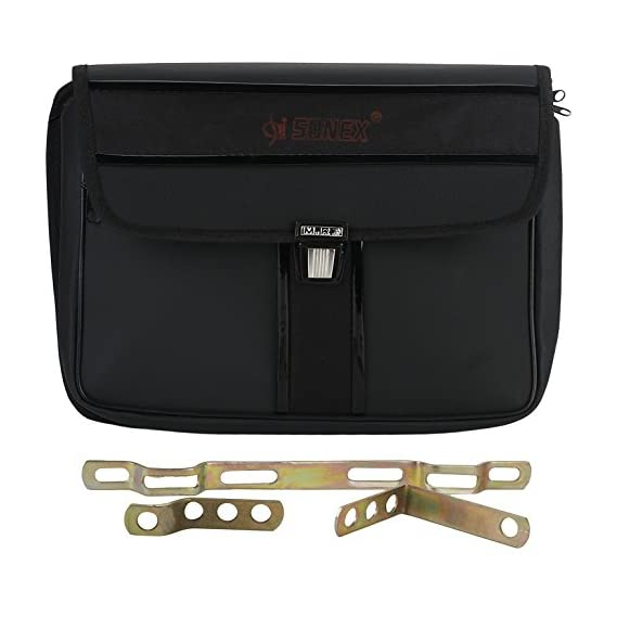 Autofy Side Bag and Metal Clip for All Bikes (Black)