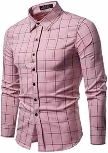 iZZZHH Mens Autumn Casual Shirt Fashion Floral Filling Print Blouse Long Sleeve Beach Top