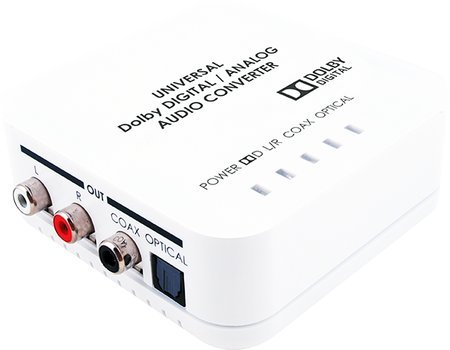 Universal Digital/Analog Audio Converter with Dolby Digital Decoder