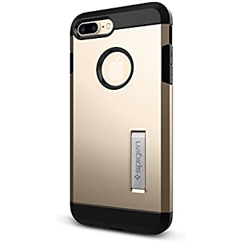 the latest d5695 ca193 Spigen Tough Armor Designed for Apple iPhone 7 Plus Case (2016) / Designed  for iPhone 8 Plus Case (2017) - Champagne Gold