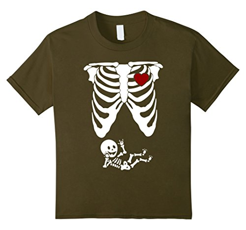 Infant Green Olive Costume (Kids Skeleton Halloween T Shirt Baby Maternity Funny Costume 12 Olive)