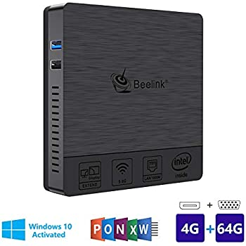 ... BT3Pro Windows 10 Multi Media Desktop Full 4K HD H.265 Smart Mini PC Intel Atom x5-Z8350 Processor 4GB+64G/4K/1000Mbps LAN/HDMI/VGA/2.4G+5.8G Dual WiFi
