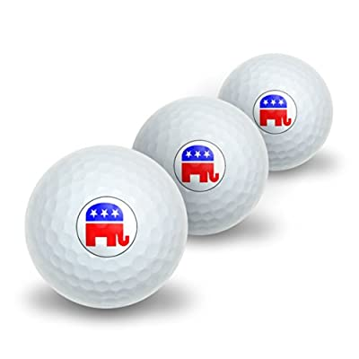 Republican Elephant Novelty Golf Balls 3 Pack