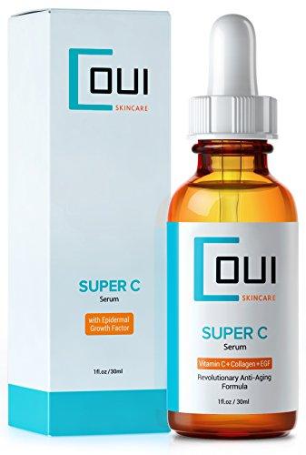 Super C Serum - Лучший Коллаген Уход за кожей для лица и глаз прорыв в Anti Aging - С Витамин С + EGF + Marine Kelp + гиалуроновая кислота - эффективное морщин и акне рубцов Лечение Удалить возрастных пятен