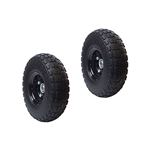 ALEKO-2WNF10-Flat-Free-Replacement-Wheels-for-Wheelbarrow-10-Inch-No-Flat-Tires-Set-of-2-Black