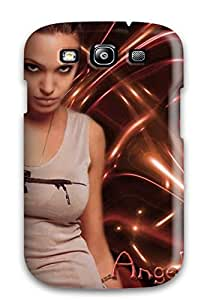 Anti-scratch And Shatterproof Angelina Jolie Phone Case For Galaxy S3/ High Quality Tpu Case