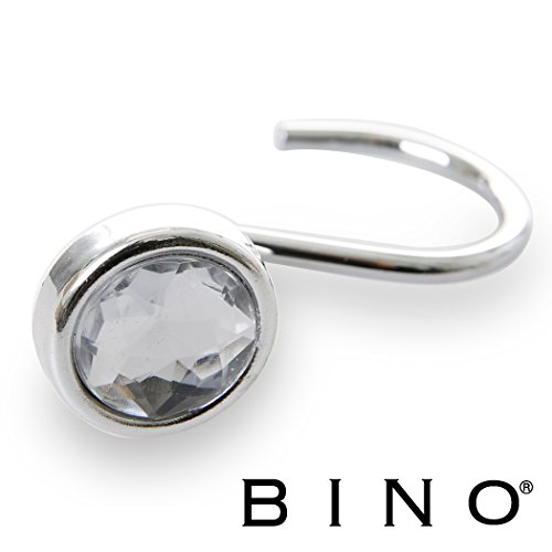 BINO 'Jewel' Chrome Shower Curtain Hooks