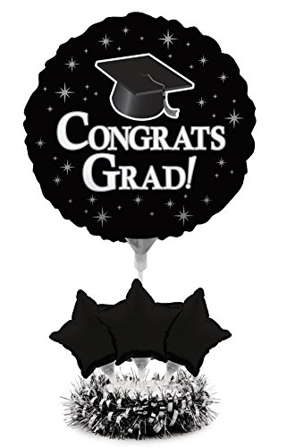 Creative Converting Air-Filled Balloon Centerpiece Kit Graduation, Black (Centerpieces For Graduation Parties)