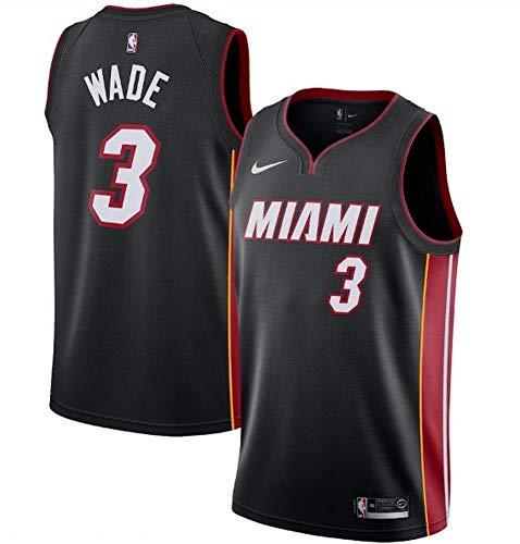 0b284d8fe0b Amazon.com   Nike Men s Miami Heat Dwyane Wade Black Replica Swingman Jersey  Icon Edition Size XXL   Sports   Outdoors