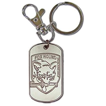 Metal Gear Solid 3 Fox Hound Dog Tag llavero de metal ...