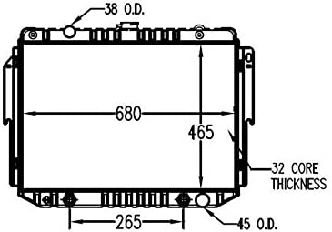 TYC 1707 Compatible with DODGE Replacement Radiator