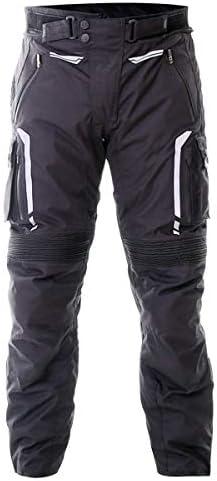 3XL Frank Thomas Rally Textile Mens Motorcycle Trousers Black Short Leg J/&S