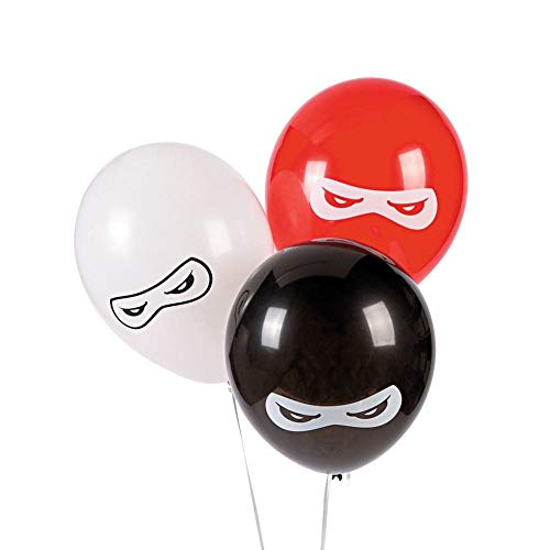 Fun Express BB13628879 Ninja Warriors 11 in. Latex Balloons 24 Pack]()