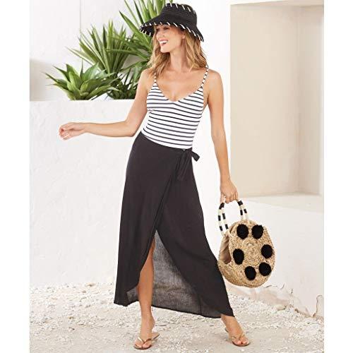 (Mud Pie Zara Wrap Skirt Black (Medium))