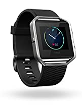 Fitbit Blaze Smart Fitness Watch, Black, Silver, Large (US Version)
