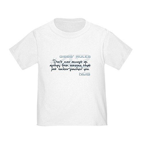 CafePress - Gibbs' Rules #42 - Just Sucker-Punched You Infant/ - Cute Toddler T-Shirt, 100% Cotton White -