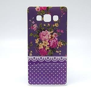 GDW púrpura patrón de flores de peonía TPU suave para la galaxia a5
