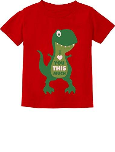 43f369726 TeeStars - Valentine's Day I Love You This Much T-Rex Toddler Kids T ...