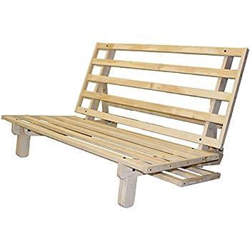houston all wood sit lounge or sleep futon frame twin size amazon    bi fold hardwood futon frame   full size  kitchen  u0026 dining  rh   amazon