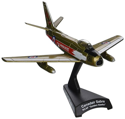 Postage Stamp Planes - Daron Worldwide Trading Postage Stamp Rcaf Canadair Sabre 1/110 Golden Hawks Airplane Model