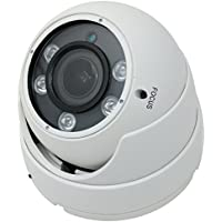 Kenuco 1080P 4 in 1 HD TVI / CVI / AHD / Analog CVBS Varifocal Infrared Dome Camera : White, Adjustable 2.8mm - 12mm Lens