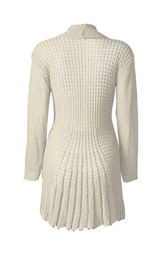 Fast Tricot D'eau Longues Manches Plaine Crocheter Chute Fashion Cardigan 1nROBqrH1