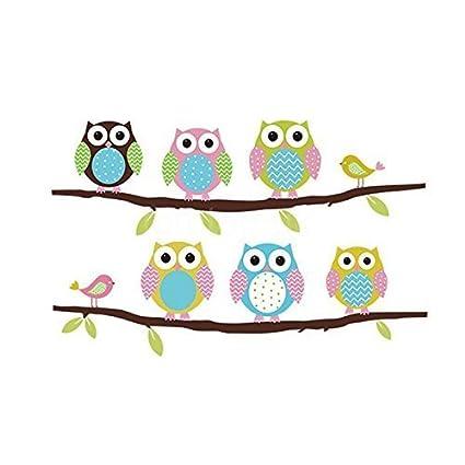 Amazon Com Removable Home Decoration Nursery Decor Cute Cartoon Owl