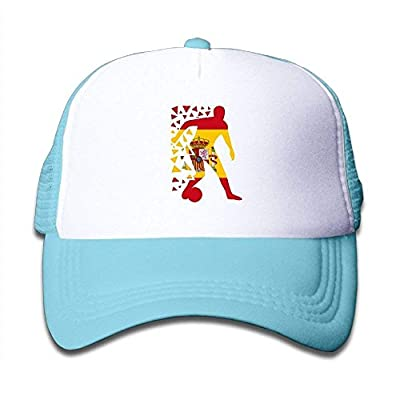 Boys&Girls See You 2018 Soccer Spain Mesh Hat Snapback Baseball Caps Adjustable Trucker Caps