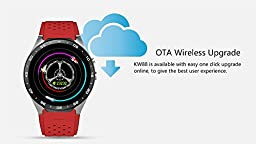GearBest KW88 3G Smartwatch Phone with GPS WiFi Pedometer Heart Rate Monitor 5.0MP RC Camera for Android 5.1 (Red)