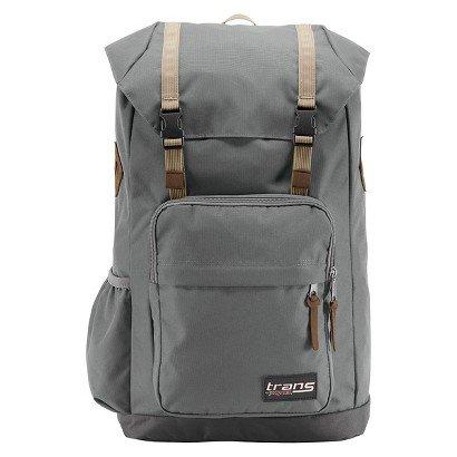 """JANSPORT Trans Thumper 15"""" Laptop Grey Backpack"""