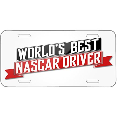 (Worlds Best Nascar Driver Metal License Plate 6X12 Inch)