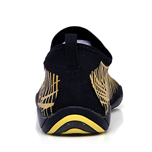 Lightweight Men Sports Aqua Women Sneakers Shoes for Shoes Dry Water Shoes Quick Gold32 Beach LakeRom UPqwFnzdz
