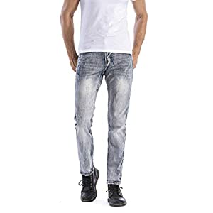 Photno Men's Jean Denim Fashion Big and Tall Classic Relaxed Fit Joggers Slim Fit Pant
