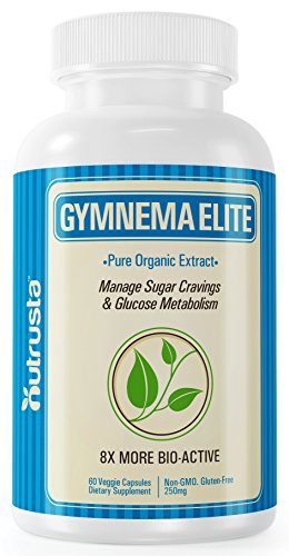 8X Gymnema Sylvestre Extract Organic - Clinically Proven Blood Sugar Support, 60 Veggie Capsules