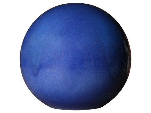 Garden Ceramic Pottery Ball in Blue for Outdoor Use Diameter 20 cm Frost Resistant K&K Keramik