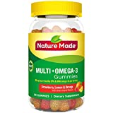Nature Made Multivitamin + Omega-3 Gummies, 80 Count for Daily Nutritional Support† (Packaging May Vary)
