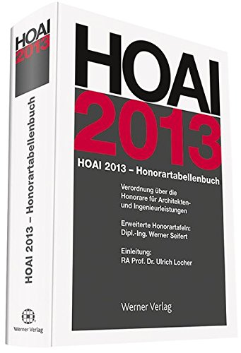 HOAI-Honorartabellenbuch 2013