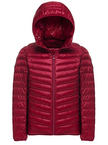 Red Fashion Jacket EKU Down Hooded Down Packable US Coat L Puffer Men's ZOwxOgq5P