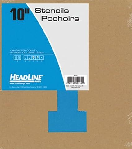 111 12-Inch Numbers 0-9 Headline Sign 111 Stencil Set