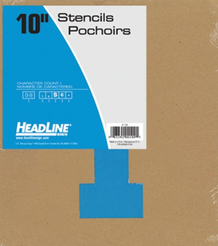 Headline Sign 109 Stencil Set, 10-Inch Numbers (Stencil 4 Signs)