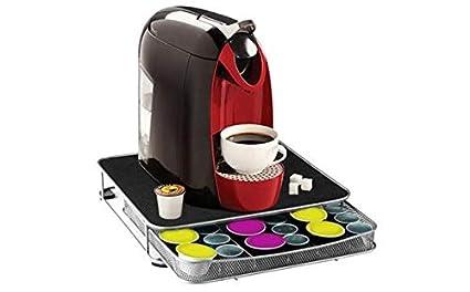 Guilty Gadgets Soporte para máquina de café con cajón de Almacenamiento para cápsulas Nespresso/Dolce