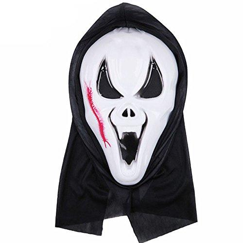 TIFENNY Halloween Dance Mask Horror Death Monk Face Mask (E)