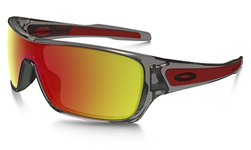 Oakley Turbine Rotor Sunglasses Grey Ink / Ruby Iridium & Cleaning Kit - Rotor Oakley Turbine