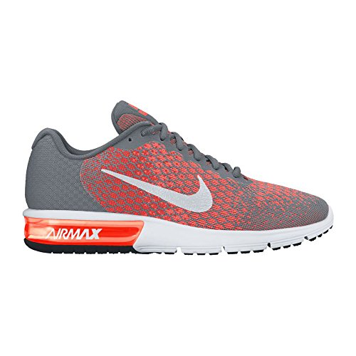 Zapatillas Para Correr Nike Hombres Air Max Sequent 2 (10.5 D (m) Us, Cool Grey / White-max Orange)