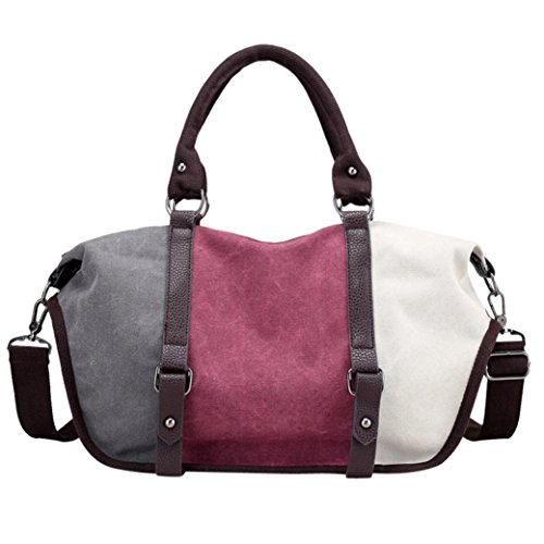 Women Crossbody Large Split Bag Messenger Capacity Fashion Bag Bag Totes Shoulder Handbag Joint Purple Rakkiss YAgrYw