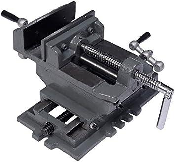"Heavy Duty 4/"" Cross Drill Press X-Y Clamp Bench Vise 2 Way HD Milling Machine"