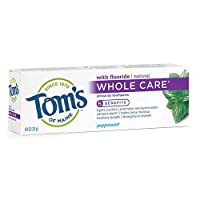 Tom's of Maine Whole Care Fluoride Gel, Peppermint, 4.7 Ounce, Pack of 6