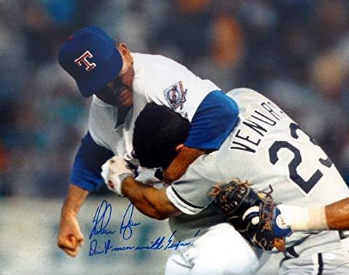 Photo Rangers Autographed 16x20 - Nolan Ryan Autographed 16x20 Photo Texas Rangers