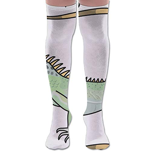 Anklet Soccer (Lizard Polyester Cotton Over Knee Leg High Socks Fashion Unisex Thigh Stockings Cosplay Boot Long Tube Socks for Sports Gym Yoga Hiking Cycling Running Soccer)